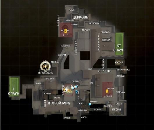 русские обозначения для радара в кс го на карте inferno